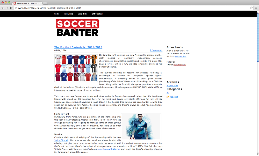 Soccer Banter - The Football Sartorialist