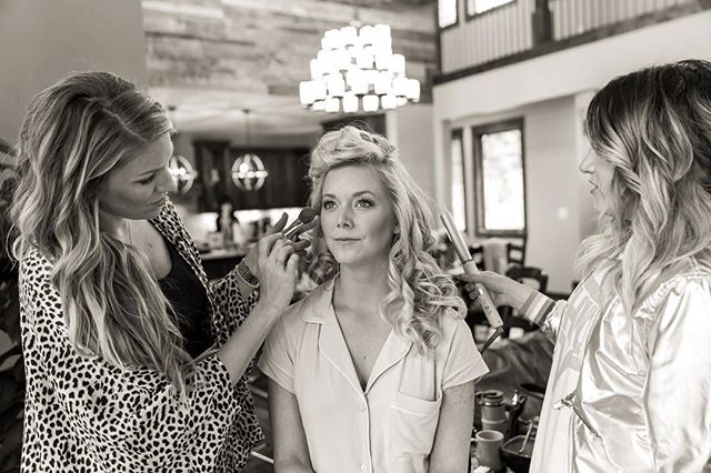 Friday Flashback to this gorgeous soul's BIG DAY💓. I was honored to be a part of her wedding team along side @thedrybar queen herself, Miss @alliwebb. 😍 It was a fun day of Primping and preparing for the most beautiful wedding up in the mountains. 💕⛰ // lashes + makeup by Primp // hair by Allie Webb // 📷 by @nicolegoddard