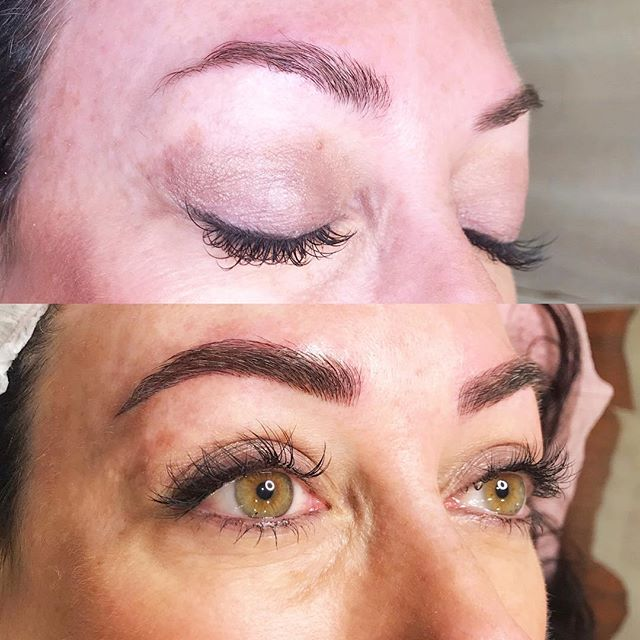 Wake up with the brows you've always dreamed of.✌︎ #microblading ┉ ➺ Service: Microblading ➺ Artist: Megan Manke ➺ Time: 2 hrs ➺ Healed Results: 4 weeks ➺ Pain Level: Little to no discomfort ➺ Aftercare: 14 days ➺ Lasts: 10-18 months ➺ Cost: $550 (includes 2 sessions) ➺ Location: @Primp.Refinery ➺ Book: primplashboutique.com
