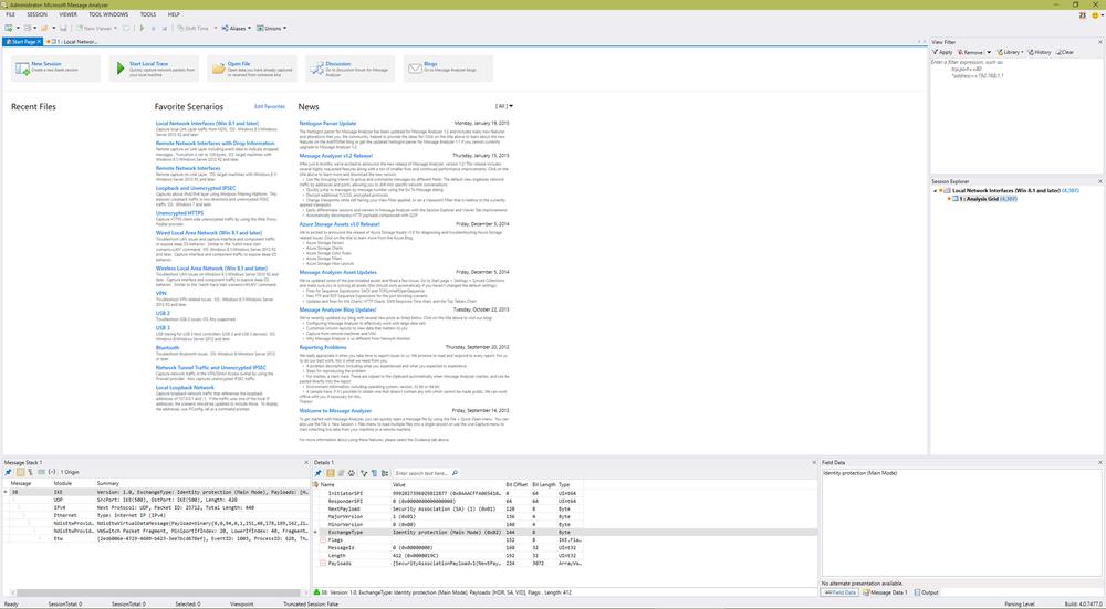 Microsoft Message Analyzer