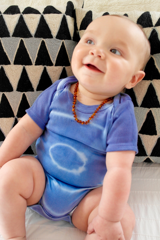 Indigo Dyed Baby Romper