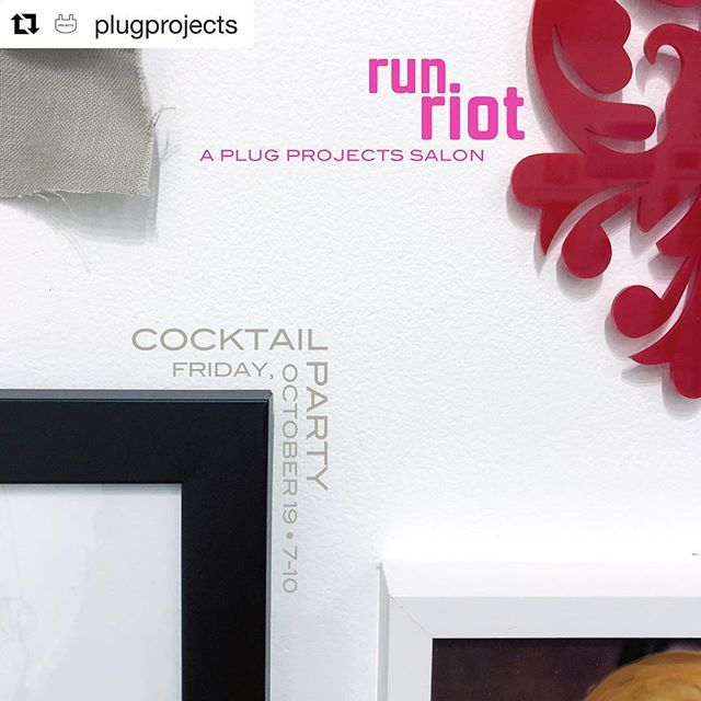 I am so excited to share that two of my paintings will be shown tomorrow night at RUN RIOT a salon show curated by @plugprojects an incredible gallery and artist run space in the WestBottoms 💕 ・・・ Friday, October 19th 7-10 pm  RUN RIOT will highlight work by 50 local and national artists as well as an immersive installation /ˈfyo͞oCHər/ by @boiboy2000 at our cocktail party!  There is a suggested minimum donation of $7 at the door and the bar will feature local beer and spirits.  All proceeds from this fun and shiny event will support future programming at PLUG! #plugprojects