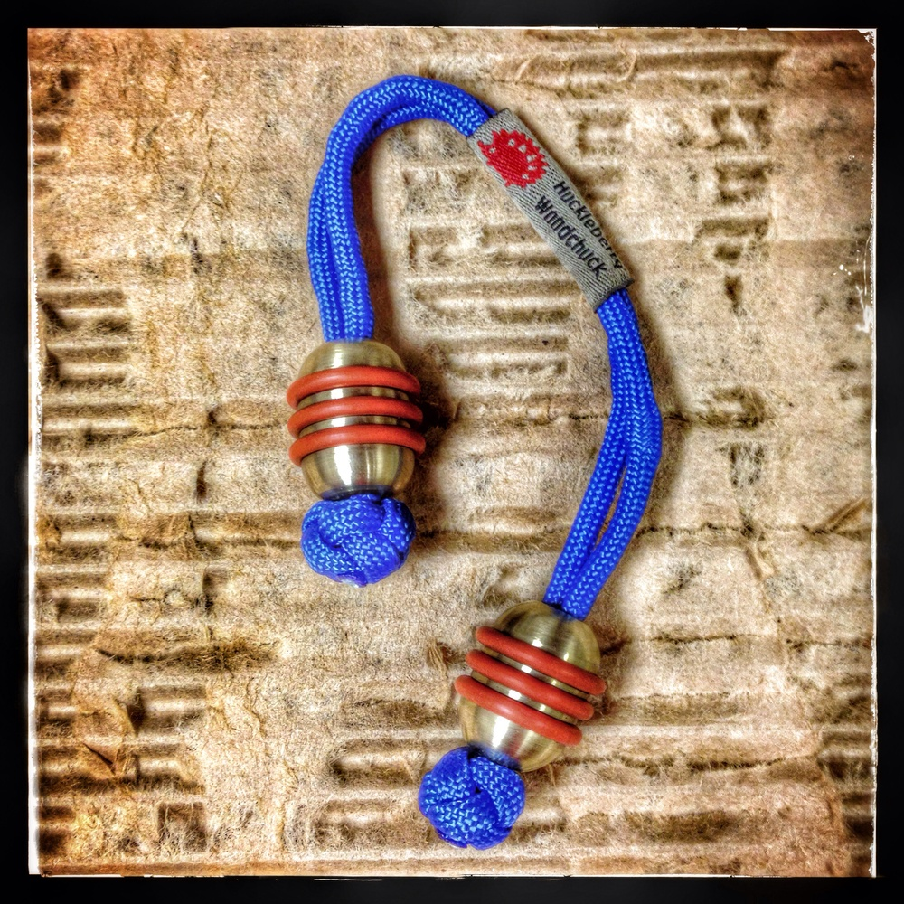 Bronze with dark blue paracord
