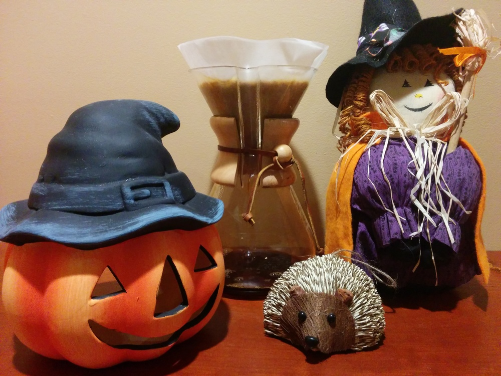 Joe the Porcupine and Barkeater Coffee Roasters say Happy Halloween!
