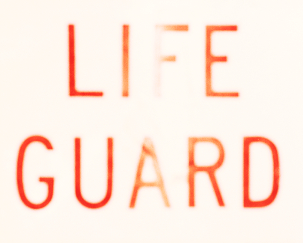 lifeguard sign, 2008