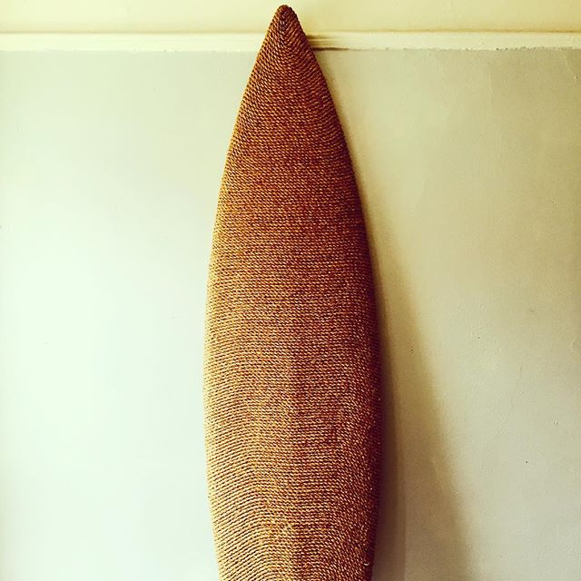 our rope-wrapped surf board, now available by custom order at mategallery.com/shop