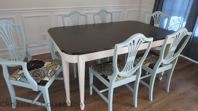 I Painted This Dining Table And Chairs For Our May Sale At The Plucky  Peacock. I Think It Was My Favorite To Date! I L~O~V~E My Job And Am So  Very Thankful ...