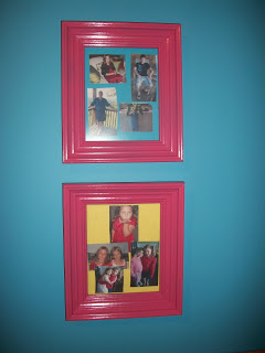 Painted these frames