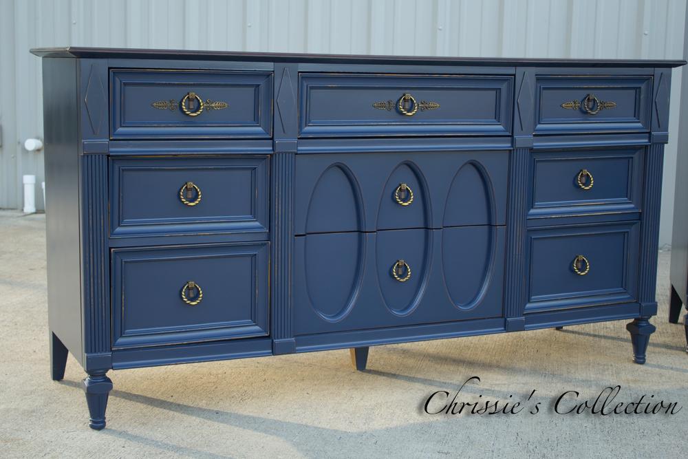 Navy Blue Bedroom FurnitureChrissies Collection