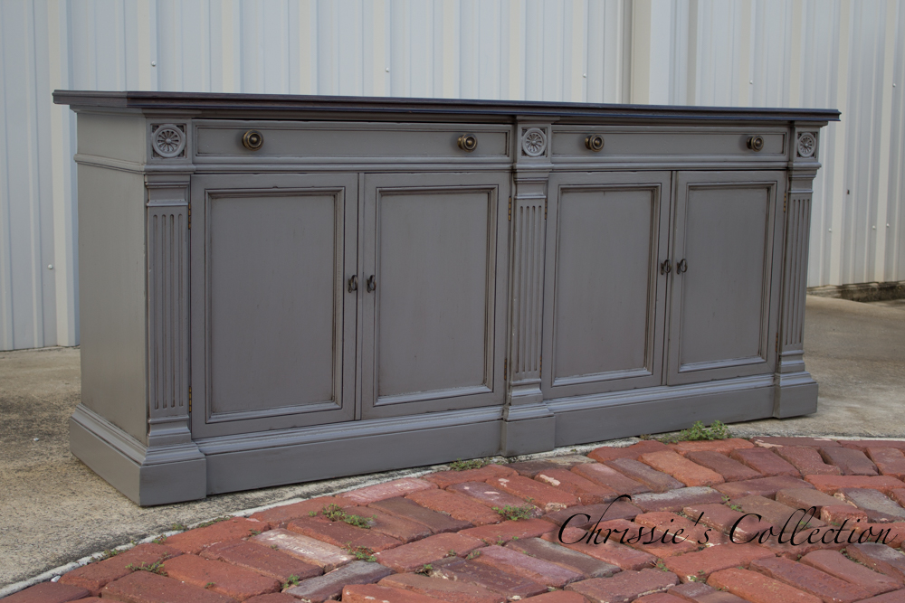 Charcoal Gray Credenza by Chrissie's Collection
