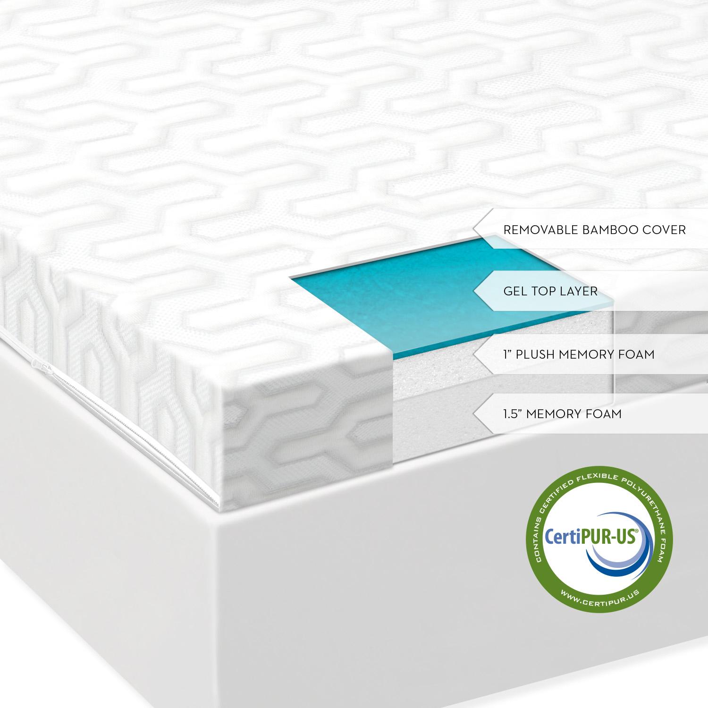 shipped reg studio ventilated foam pad inch memory topper save sleep mattress