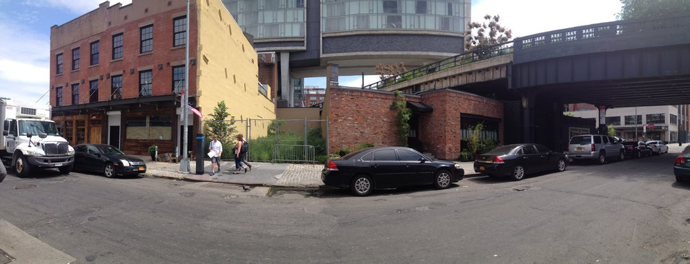 Our Site: The vacant lot on Little West 12th Street, below The Highline and The Standard Hotel.