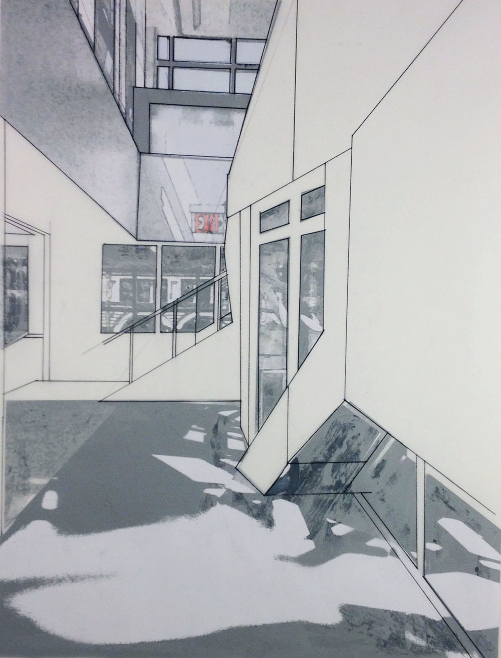 University As Space Photo montage + Constructed Perspective