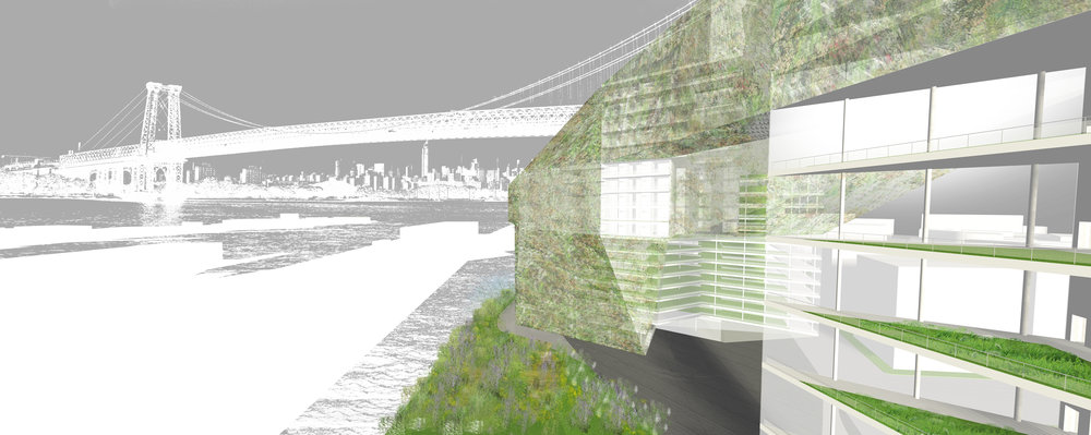 Exterior Rendering - Façade and Waterfront