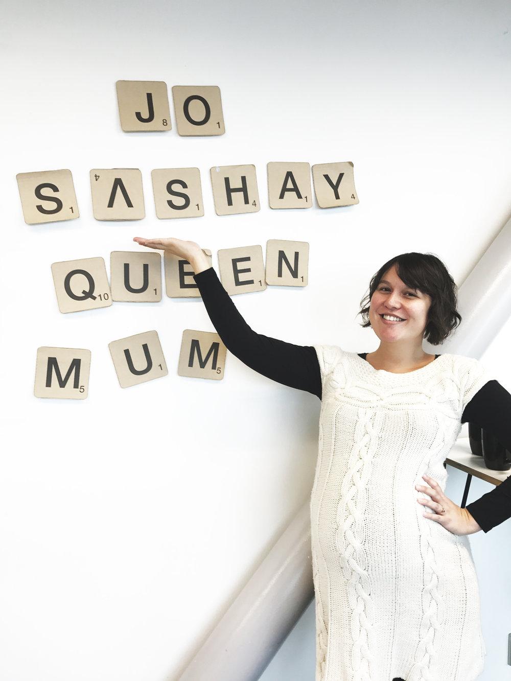 Jo, sashay away
