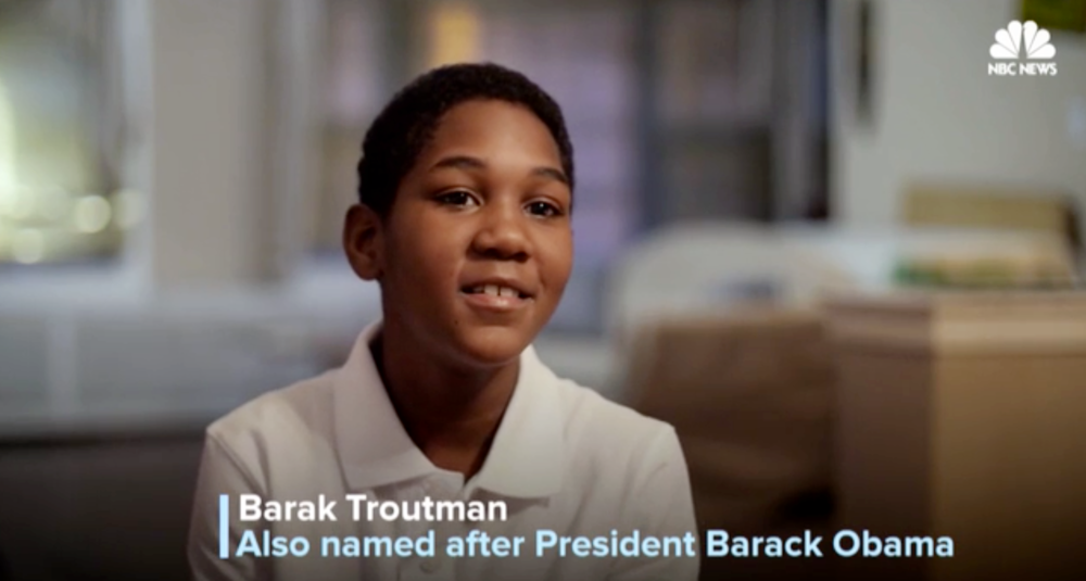 NBC News:   Growing Up Barack: Meet Three Boys Named After President Obama   NBC featured three young black boys who were named after President Obama for a piece honoring his legacy as he left the Oval Office. I was one of three video journalists who shot and interviewed these families. Barak and his parents are based in Chicago - where they first met the former president in 2000.