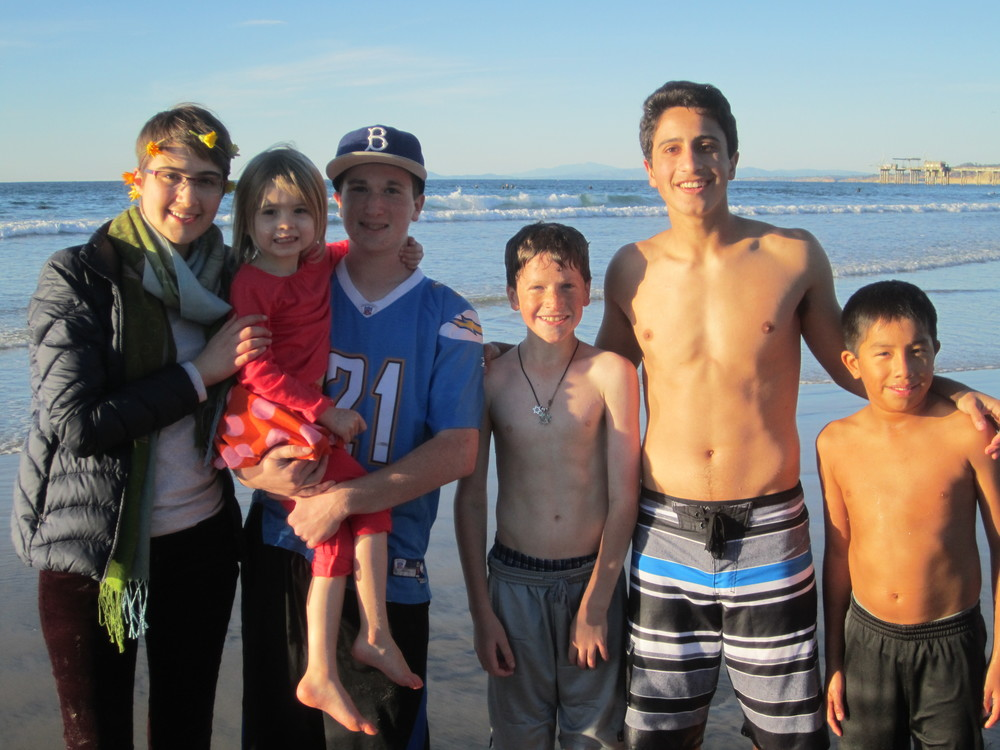 Hanging out at the beach with the cousins!
