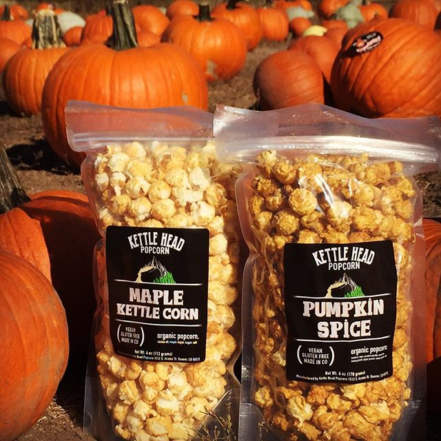 Happy fall! We are proud to introduce our limited release of Pumpkin Spice and Maple Kettle Corn. Join us today at the pumpkin harvest festival at @fourmilehistoricpark from 10am-4pm