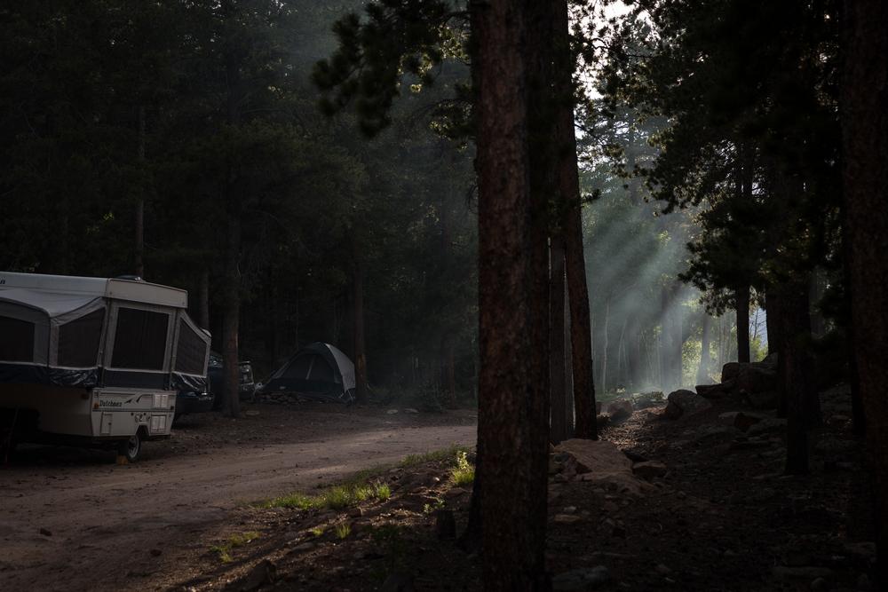 Campfire smoke, Roosevelt National Forest.