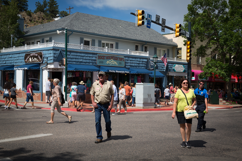 Downtown Estes Park, Fourth of July weekend.