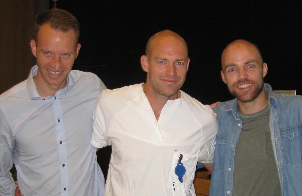 Fra venstre:Gard Gjerdalen, Marius Myrstad og Tord Asle Gjerdalen holdt foredrag omkondisjon for sykehus- og allmennleger torsdag 18. juni 2015. www.forskerlivet.no