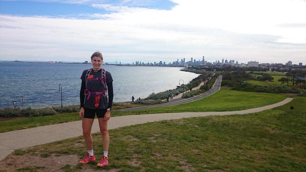 Melbourne i bakgrunnen på en løpetur. Fin by! www.forskerlivet.no