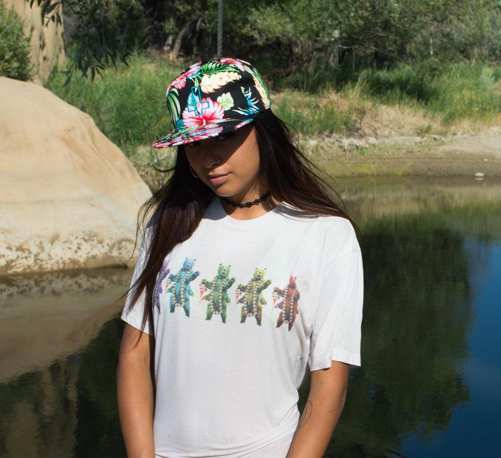 Kalin Floral Blue Cross Hat Bear shirt.jpg