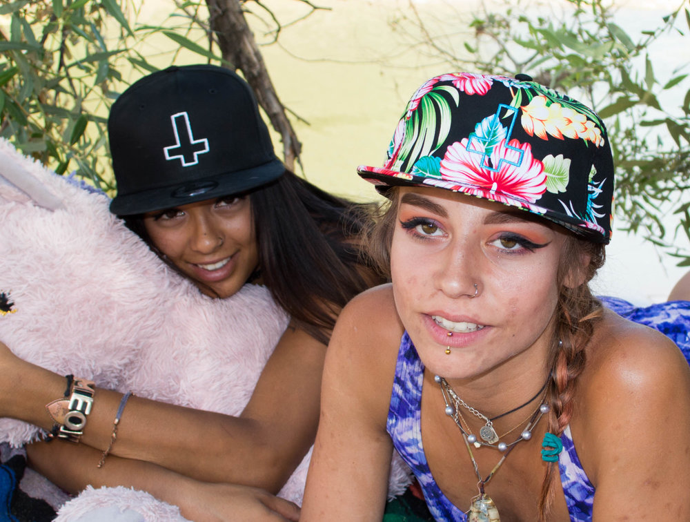 Kalin and Lilly Cross hats.jpg