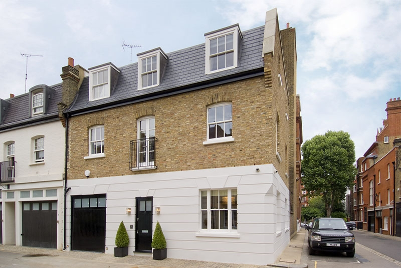 Knightsbridge Mews House    This 2 storey derelict house was purchased on a short lease 19 year lease. The first step was to purchase the freehold from the Cadogan Estate and then planning permission was obtained for an additional floor at second floor level......