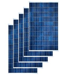 panneaux photovoltaïques polycristallins ou monocristallins