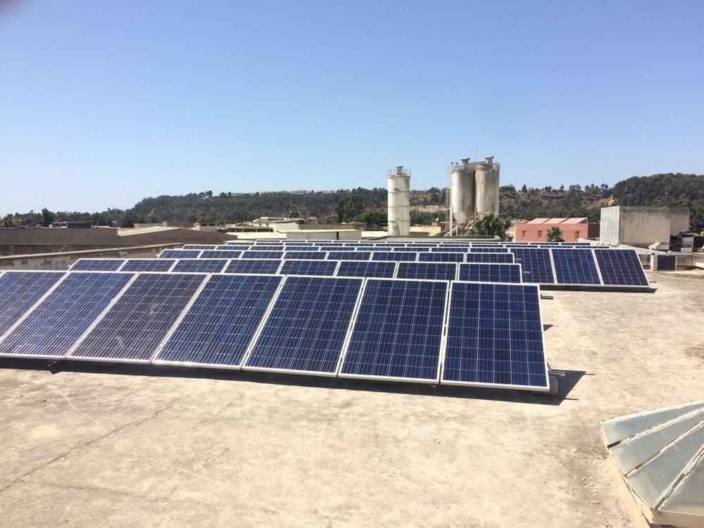 Econosol Installation solaire photovoltaïque industrielle maroc