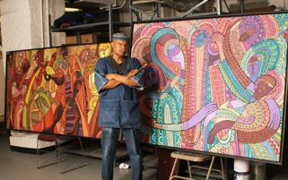 Emmett Wigglesworth : muralist, painter, sculptor, fabric designer and poet.