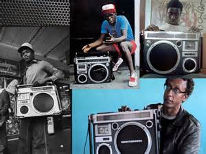 boombox collage