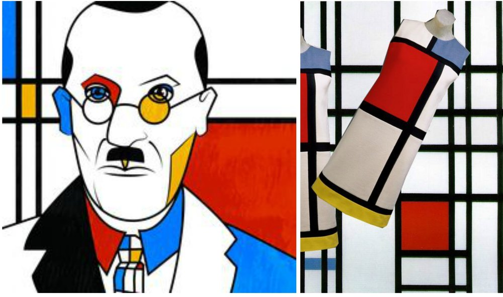 Piet Mondrian // YSL Mondrian dress