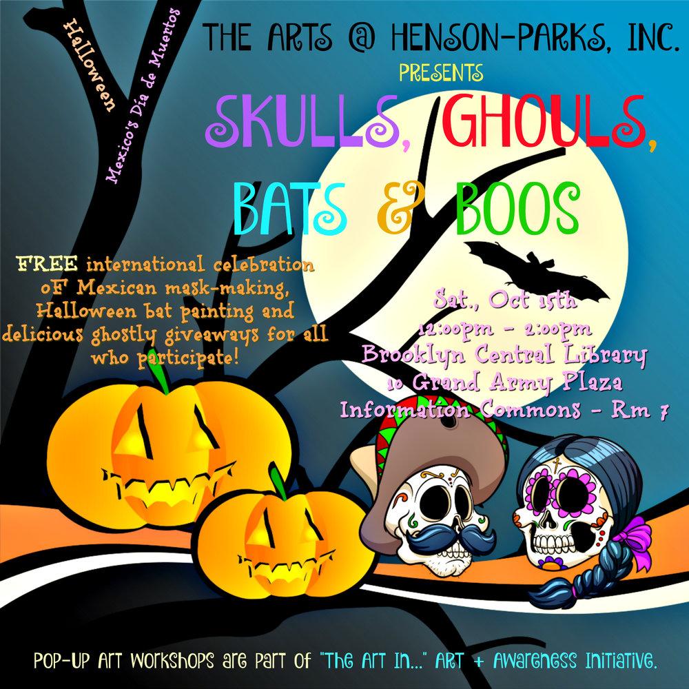 skulls ghouls flyer