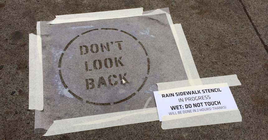 Example Sidewalk stencil. Source: NeverWet-Street-Art-Sencils