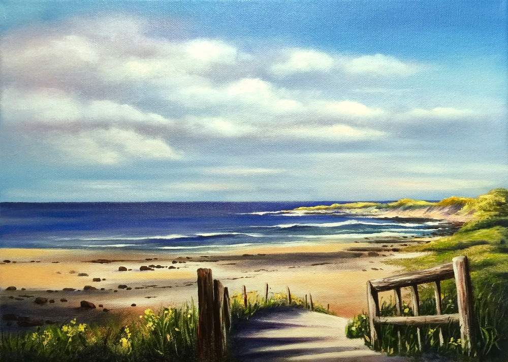 'Fanore, Co Clare'  Oil on Canvas