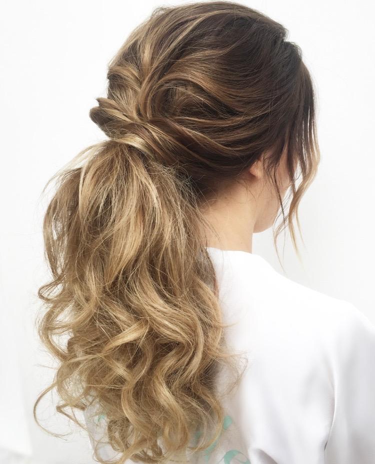 Bridal ponytail inspo, Lake Como