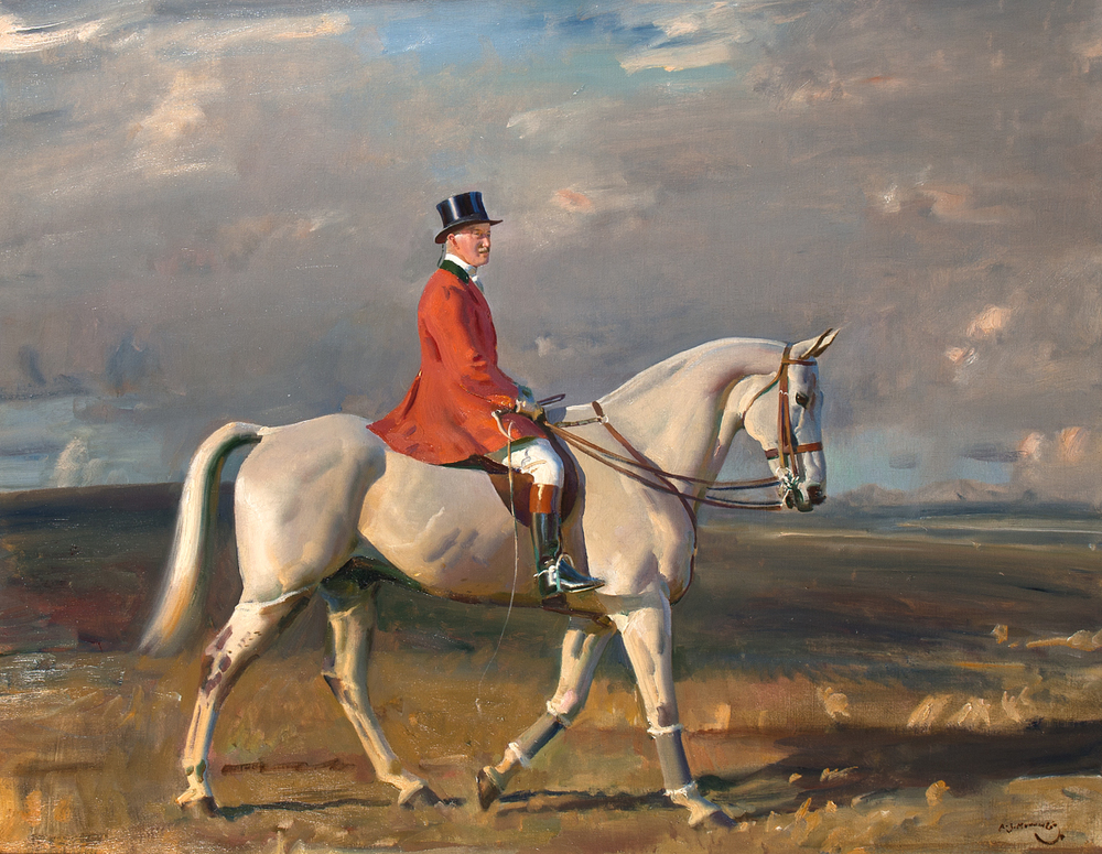 SIR ALFRED MUNNINGS (1878–1959) Portrait of Harry La Montagne on a Grey 1920