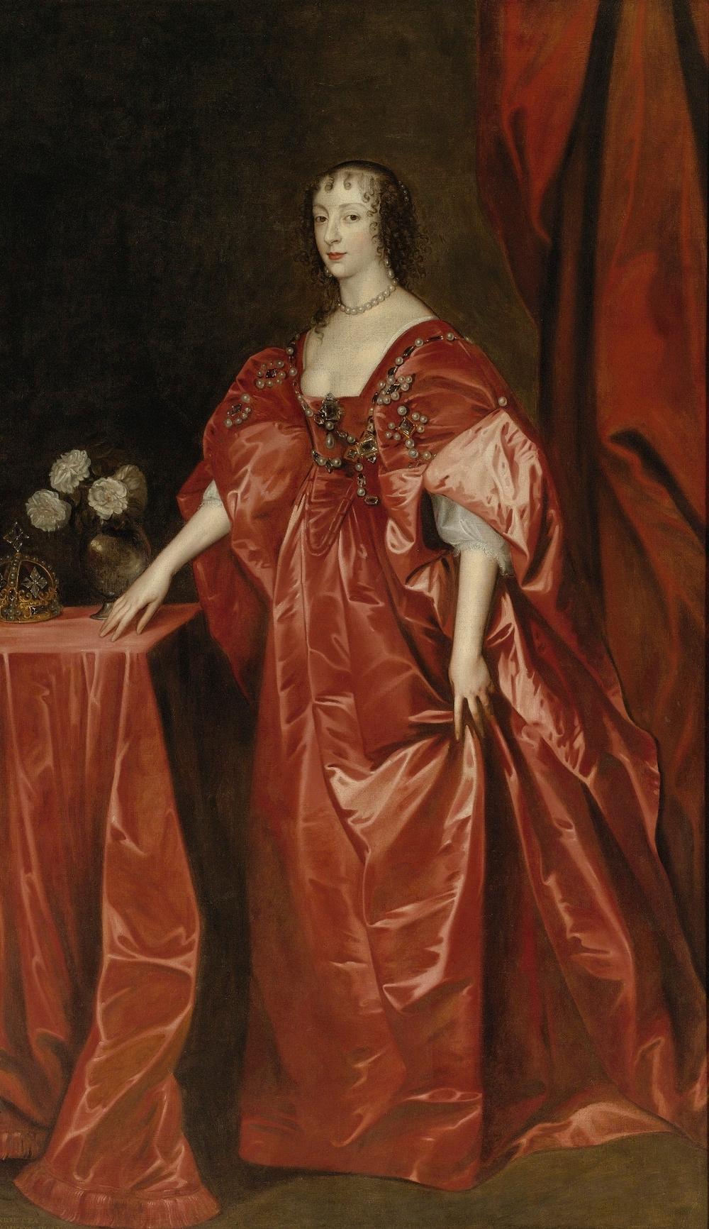 Sir Anthony van Dyck (1599-1641) Queen Henrietta Maria
