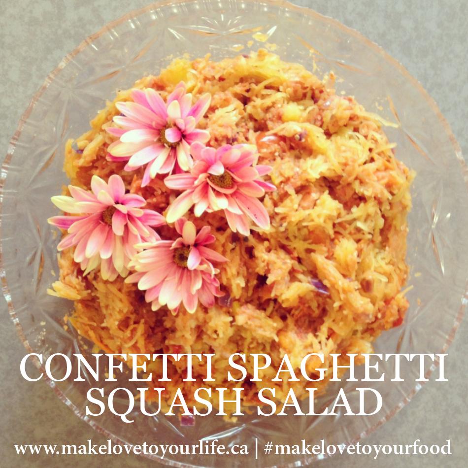 Confetti Spaghetti Squash Salad | MakeLoveToYourLife.ca