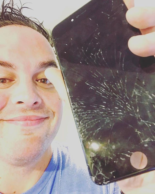 Think about swiping on this shattered screen- it doesn't feel good and it's down right dangerous. We replaced this one for a client late last night. Now he gets to start his #Monday with a little more joy! A new screen will make YOU feel better, too! Call or iMessage Jason at 502-415-6347 and get your #iPhone repaired. He's been repairing since 2008! ProntoiPhone.com #Louisville #Repair #Concierge #SaveMoney #SaveTime