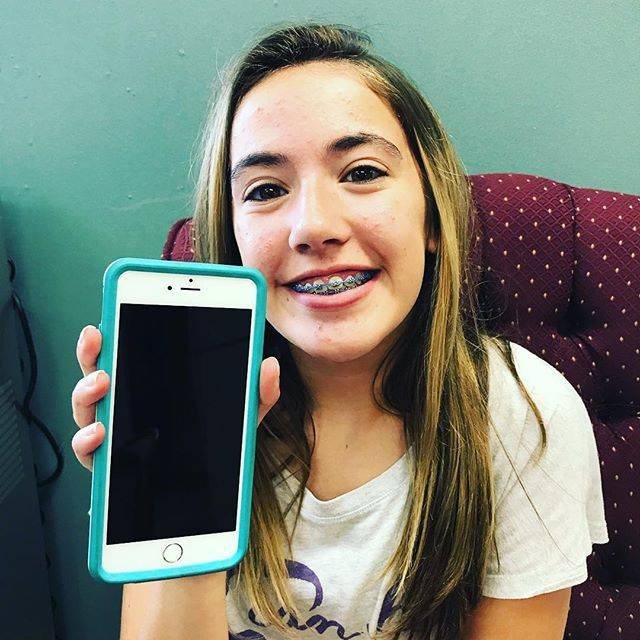 We fixed Ella's iPhone 6s Plus this morning and put a huge smile on her face! It's about the Joy that our service provides! ProntoiPhone.com 502-415-6347 @ellxgrxce #Louisville #iPhone #Repair