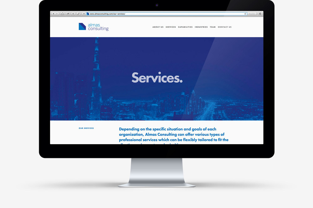 Almas Consulting website