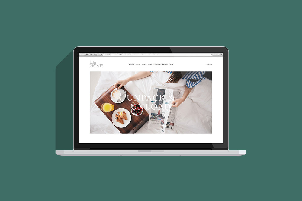 Le Nove hotel website