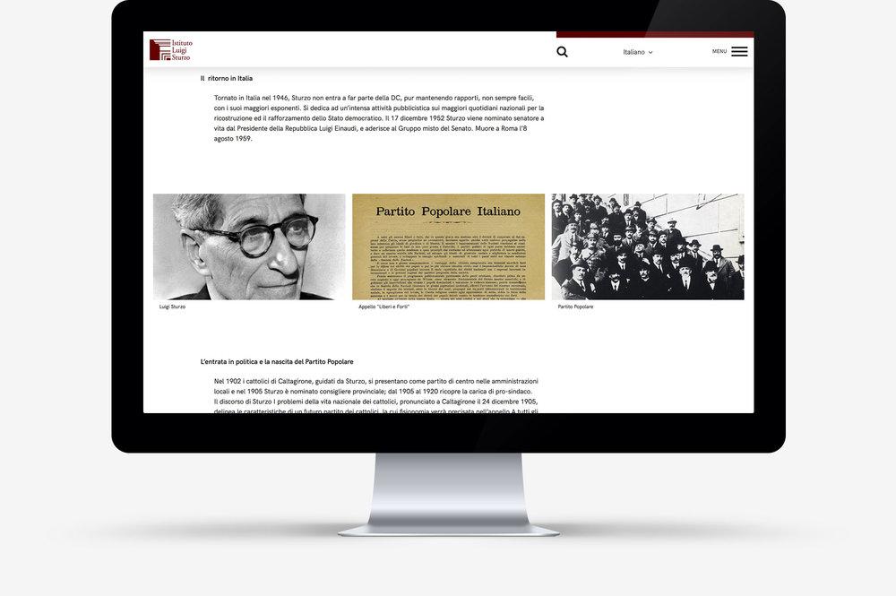 Website Istituto Luigi Sturzo / Gallery