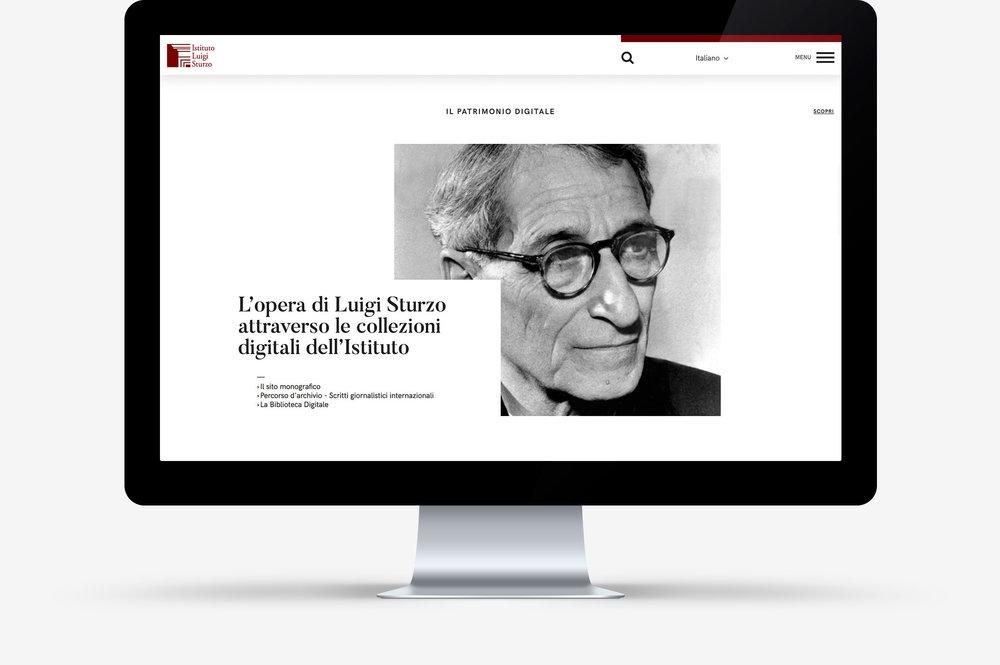 Website Istituto Luigi Sturzo / Homepage