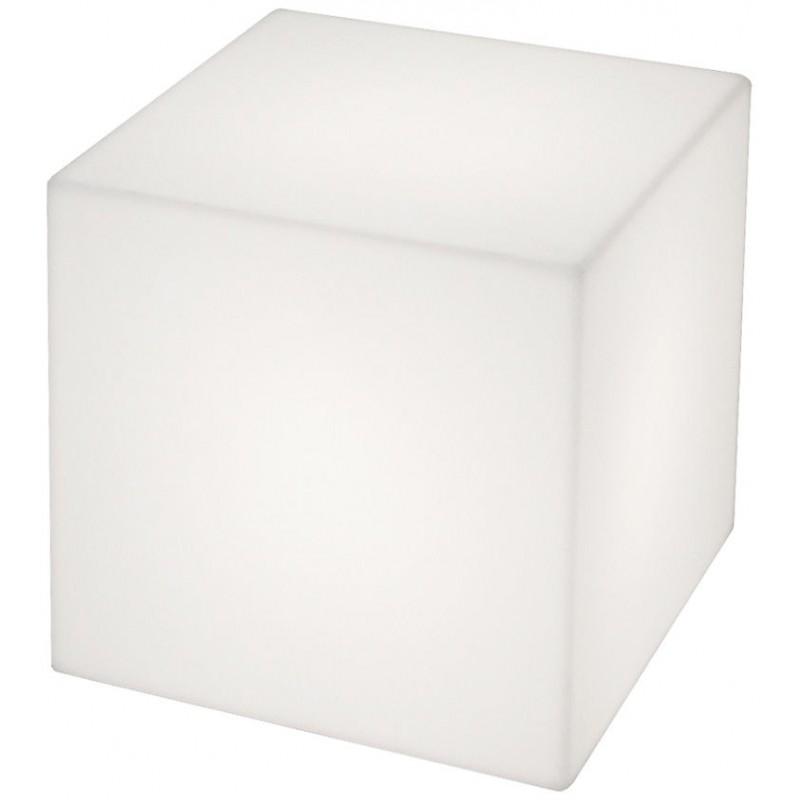 Kubo  Kubformad marknivålampa som vit eller med färgfilter. Finns med sladd eller NYA utan sladd. Laddningsbara batterier.   Lagerstatus: I lager.