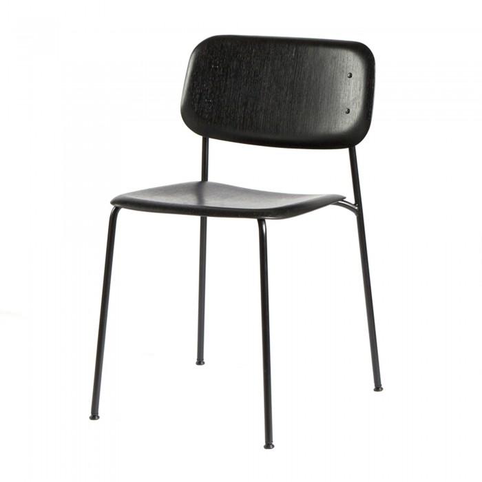 Soft Edge chair HAY   Svart träsits, pulverlackade stål ben. L 50 cm W 54,5 cm H78,8 cm    Lagerstatus: I lager