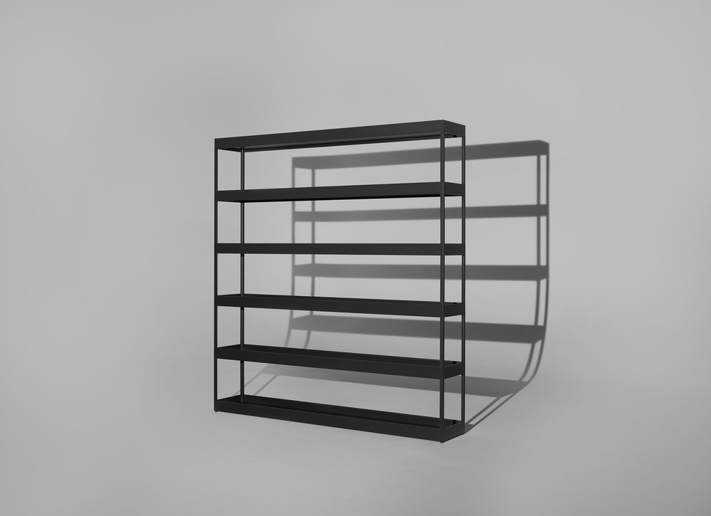 HAY NEW ORDER hylla grafit grå   H 215 cm D 34 cm W 100 cm      Lagerstatus; I lager